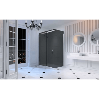 Merlyn 10 Series Sliding Shower Door 1200mm Right Hand Smoked Black Glass