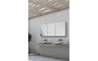 HIB Eris 120 Aluminium Bathroom Cabinet with Mirror Sides 1200 x 700mm
