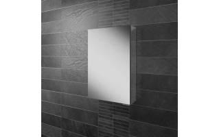 HIB Eris 40 Aluminium Bathroom Cabinet with Mirror Sides 400 x 600mm