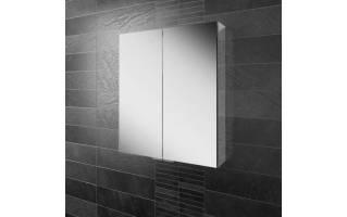HIB Eris 60 Aluminium Bathroom Cabinet with Mirror Sides 600 x 700mm