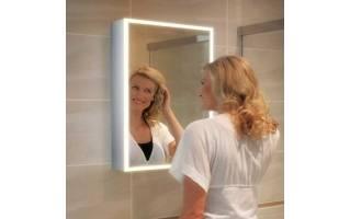 HIB Qubic 50 LED Aluminium Bathroom Cabinet 500 x 700mm