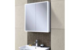HIB Qubic 60 LED Aluminium Bathroom Cabinet 600 x 700mm