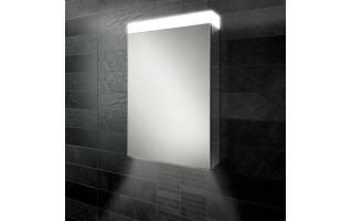 HiB Apex 50 LED Aluminium Bathroom Cabinet with Mirrored Sides 500 x 750mm