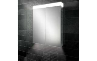 HiB Apex 60 LED Aluminium Bathroom Cabinet with Mirrored Sides 600 x 750mm