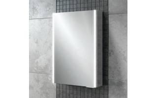 HiB Xenon 50 LED Aluminium Bathroom Cabinet with Mirrored Sides 505 x 700mm