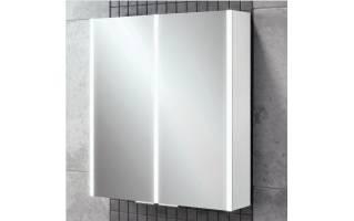 HiB Xenon 60 LED Aluminium Bathroom Cabinet with Mirrored Sides 605 x 700mm