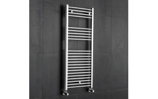 Reina Diva Flat Heated Towel Rail 800 x 300mm Chrome