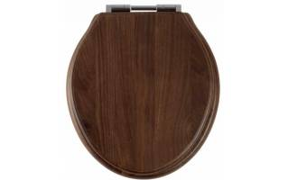 Roper Rhodes Greenwich Walnut Solid Wood Toilet Seat with Soft Close Hinges