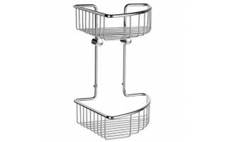 Smedbo Sideline Double Corner Soap Basket Polished Chrome 207 x 207 x 295mm