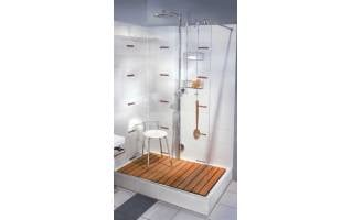 Smedbo Sideline Double Shower Basket Polished Chrome 217 x 130 x 765mm