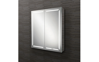 HIB Groove 60 LED Demisting Bluetooth Bathroom Cabinet 600 x 700mm