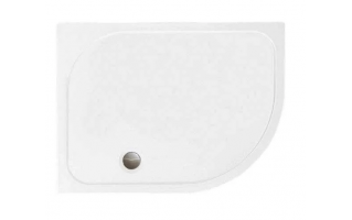 Merlyn MStone Offset Quadrant Shower Tray with Waste Right Hand 900 x 760mm