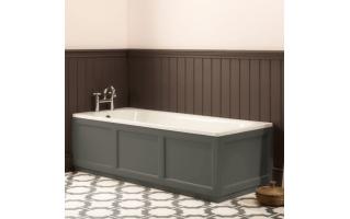 Roper Rhodes Hampton 1700mm Pewter Bath Front Panel