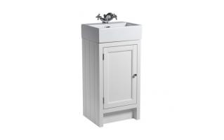 Roper Rhodes Hampton 450mm Cloakroom Unit with Basin Chalk White