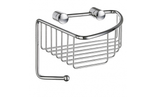 Smedbo Sideline Corner Soap Basket Polished Chrome 165 x 165 x 60mm