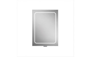 HIB Vapor 50 LED Demisting Aluminium Bathroom Cabinet 500 x 700mm