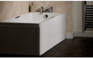 Carron Eco Integra Twin Grip Single Ended Carronite Bath 1600 x 700mm