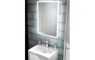 HIB Vega 50 Steam Free LED Mirror with Charging Socket 700 x 500mm