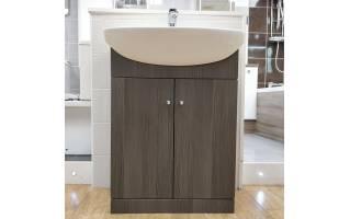 Ikoma Bodega Grey Vanity Unit with Basin 650mm