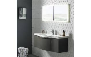 Roper Rhodes Serif 1200mm Wall Mounted Unit with Basin Gloss Dark Clay