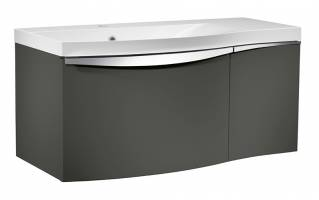 Roper Rhodes Serif 900mm Left Hand Wall Mounted Unit with Basin Gloss Dark Clay