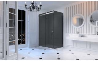 Merlyn 10 Series Sliding Shower Door 1200mm Right Hand Smoked Black Glass