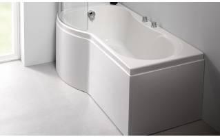 Carron Arc Curved Shower Bath 1700 x 700/850mm Left Hand