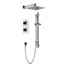 Bristan Cobalt Thermostatic Recessed Shower Pack with Fixed & Adjustable Heads