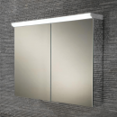 HIB Ember 80 LED Aluminium Bathroom Cabinet with Mirrored Sides 800 x 700mm