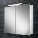 HIB Neutron LED Aluminium Bathroom Cabinet 600 x 700mm