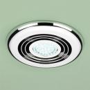 HIB Turbo Inline Illuminated Chrome Fan Cool White LED