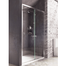 Roman Decem Sliding Shower Door with Finger Pull Handle Alcove Fitting Left Hand 1200mm