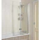 Roman Lumin8 8mm Hinged Inward Opening Bath Screen 910mm Right Hand