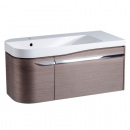 Roper Rhodes Cirrus 900mm Left Hand Wall Mounted Unit with Basin Fineline Grey