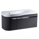 Roper Rhodes Cirrus 900mm Left Hand Wall Mounted Unit with Basin Gloss Clay