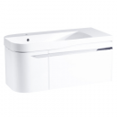 Roper Rhodes Cirrus 900mm Left Hand Wall Mounted Unit with Basin Gloss White