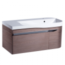 Roper Rhodes Cirrus 900mm Right Hand Wall Mounted Unit with Basin Fineline Grey