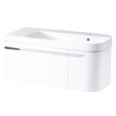 Roper Rhodes Cirrus 900mm Right Hand Wall Mounted Unit with Basin Gloss White