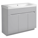 Roper Rhodes Diverge 1000mm Freestanding Unit with Ceramic Basin Gloss Light Grey