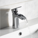 Roper Rhodes Sign Open Spout Basin Mixer Tap with Click Waste