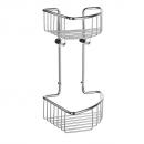 Smedbo Sideline Double Corner Soap Basket Polished Chrome 165 x 165 x 295mm