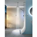 Aqualisa Quartz Smart Divert Exposed Shower with Adjustable & Ceiling Fixed Drencher Head HP/Combi