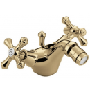Bristan Colonial Bidet Mixer with Pop Up Waste Gold