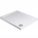 Roman Acrylic Capped Stone 40mm Low Profile 800mm Square Shower Tray with Waste