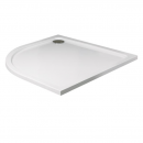 Roman Acrylic Capped Stone 40mm Low Profile 900 x 760mm Right Hand Offset Quadrant Shower Tray with Waste