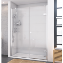 Roman Decem Hinged Shower Door with One In-Line Panel & Finger Pull Handle Alcove Fitting 1200mm
