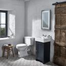 Tavistock Lansdown 430mm Cloakroom Vanity Unit & Basin Matt Dark Grey