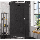 Merlyn 10 Series 1 Door Quadrant Shower Enclosure Smoked Black Glass Right Hand 900 x 900mm