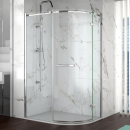 Merlyn 8 Series 1 Door Offset Quadrant Frameless Enclosure Right Hand 1200 x 900mm with Tray