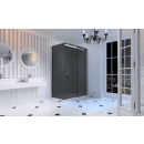 Merlyn 10 Series Sliding Shower Door with Tray 1400mm Left Hand Smoked Black Glass